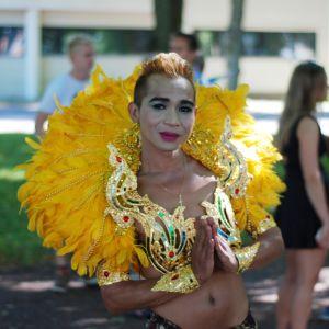 Pornnarong Nakkaea på Åland Pride