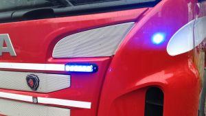 blåljus på brandbil