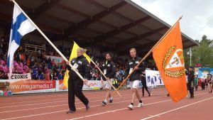 Inmarsch på stafettkarnevalen 2016
