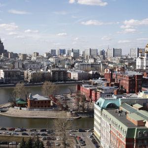 Vy över Rysslans huvudstad Moskva.