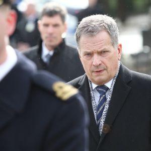En bild på president Sauli Niinistö.