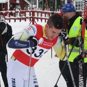 IF Minkens Christoffer Lindvall vid FSS-mästerskapen i Vörå 2016.