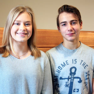 Amanda Lindberg och Viktor Seppälä från Grundskolan Norsen.