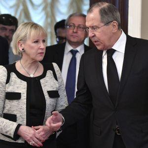 Sveriges utrikesminister Margot Wallström förde viktiga samtal med sin ryske kollega Sergej Lavrov i Moskva.