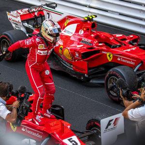 Sebastian Vettel vann före Kimi Räikkönen.