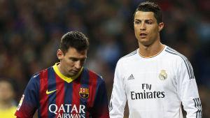 Lionel Messi och Cristiano Ronaldo.