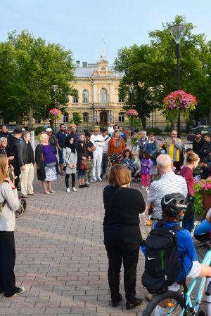 Ljusdemonstration i Borgå pga Åboterrorattacken