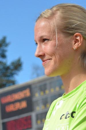 Camilla Richardsson trivs på Karlsplan i Vasa.