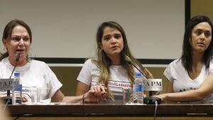 Antonio Ledezmas fru Mitzy Capriles och deras dotter Antonieta.