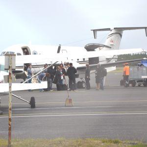 Flygplan på Kronoby flygplats.