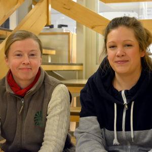 Porträttbild på Anna Alm och Julia Ingo.