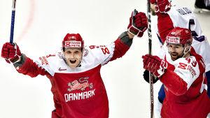 Danmark jublar i hockey-VM 2018.