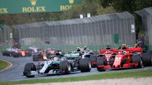 Formel 1-loppet i Melbourne 2018.