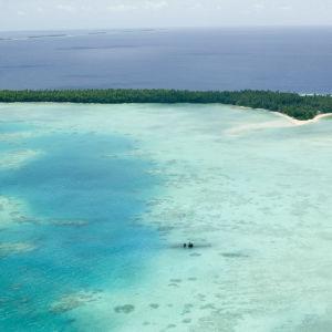 Funafuti-atollen på Tuvalu 2009.