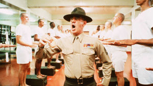 R. Lee Ermey i rollen som sergeant Hartman i krigsfilmen Full Metal Jacket.