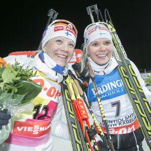 Kaisa Mäkäräinen och Mari Laukkanen.