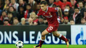 Philippe Coutinho spelar fotboll för Liverpool.