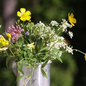 Blombukett, sommarblommor