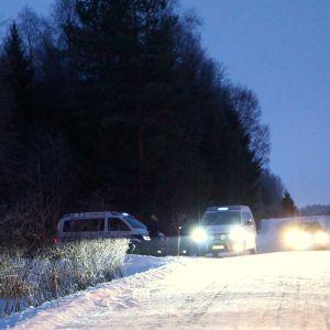 Polisavspärrning efter trafikolycka.