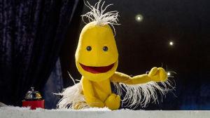 Figuren Vimmel i Vimligt bra uppträder i sin egen show.