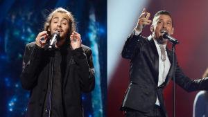 Salvador Sobral och Francesco Gabbani.