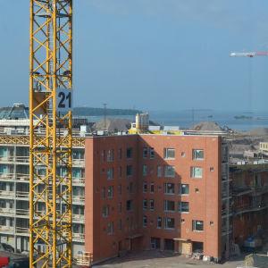 Havsutsikt från ny studentbostad på sjunde våningen