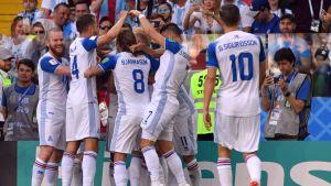 Island firar mål i VM