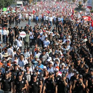 Rättvisemarschen i Turkiet sommaren 2017.