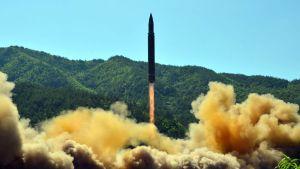 Nordkorea testar missiler 5 juli 2017.