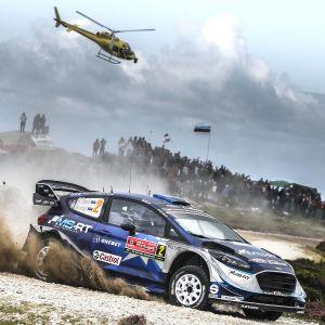 Ott Tänak kör rally i Portugal