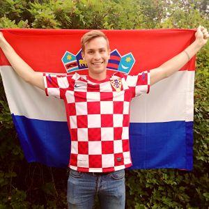 Toni Budanec, Kroatisk supporter i Esbo.