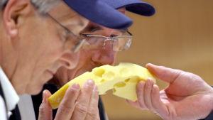 Emmentalerost värderas under ostens olympiska spel i Tyskland.
