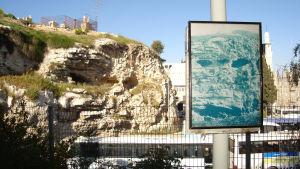 Vy över Golgata i Jerusalem.