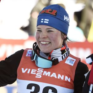 Krista Pärmäkoski slutade på andra plats på 5 kilometer i Toblach under Tour de Ski.