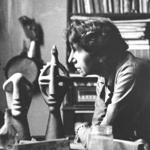 K. L. Haenchen. Jeanne Mammen i sin ateljé i Berlin, ca 1946-1947,