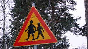 Trafikmärke för skolelever