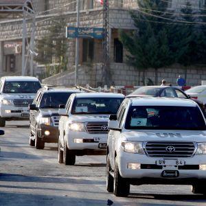 Internationella inspektörer tilläts in i Syrien år 2013, efter att det ratificerade den internationella konventionen mot kemiska vapen