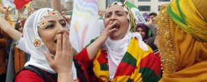 Anhängare av det turkiska pro-kurdiska partiet HDP.