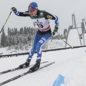Matti Heikkinen är välbekant med spåren i Lahtis, här i en tävling 2016.
