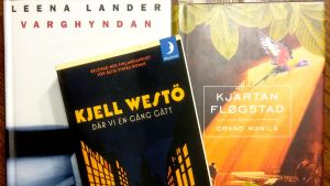 Tre böcker av Leena Lander, Kjell Westö och Kjartan Flögstad som alla handlar om inbördeskriget 1918.