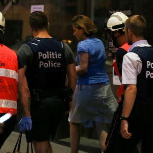 Hundratals personer evakuerades från centralstationen i Bryssel efter ett attentatsförsök den 20 juni 2017.