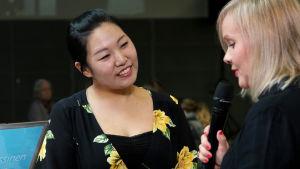 Yedam Kim Ylen haastattelussa.