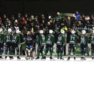 Borgå Akilles tackar fans efter att ha säkrat finalplats 2016.