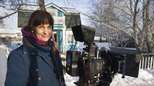Saara Cantell, kamera, elokuvaohjaaja, Onnelin ja Annelin kuvauksissa