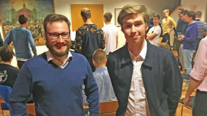 John Tallqkvist och Lars M. Huldén