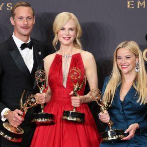 Alexander Skarsgård, Nicole Kidman och Reese Witherspoon på Emmygalan 2017.
