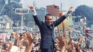 Richard Nixon i Paoli nära Philadelphia under presidentvalskampanjen 1968.