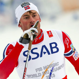 Petter Northug under 4x10 km i Falun 2015