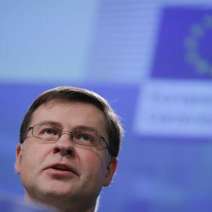 EU-kommissionens vice ordförande Valdis Dombrovskis.