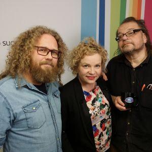 Toivo Susi, Minna Joenniemi ja Kalevi Pollari Levylautakunnassa